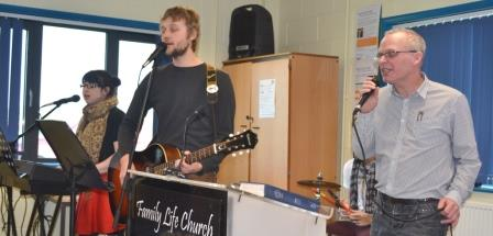 worship band at family life church thirsk
